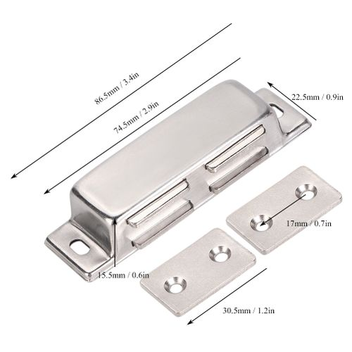 4 Pieces Magnetic Double Door Capture Stainless Steel Cabinet Closet Catch For Home Furniture
