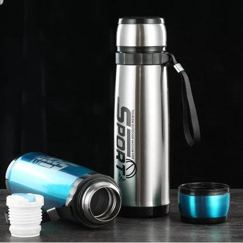 800ml Bottle Stainless Steel - Blue