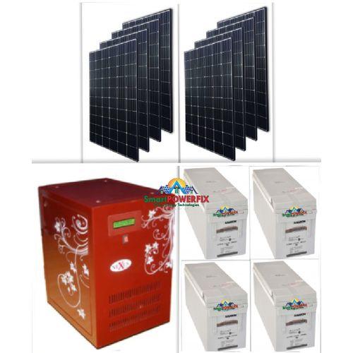 Solar Powered 5kva Inverter With 4 Quanta Batteries