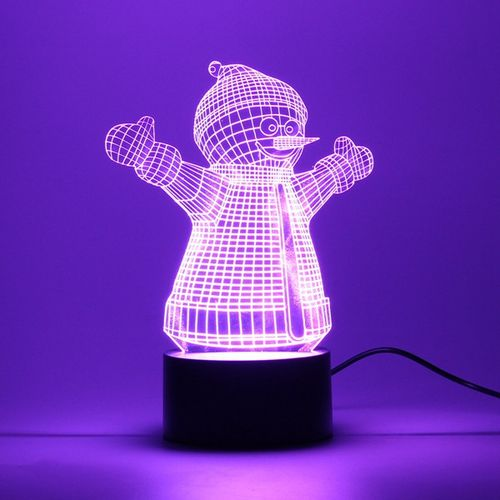 3D Night Light 7 Color Change LED Art Desk Table Lamp