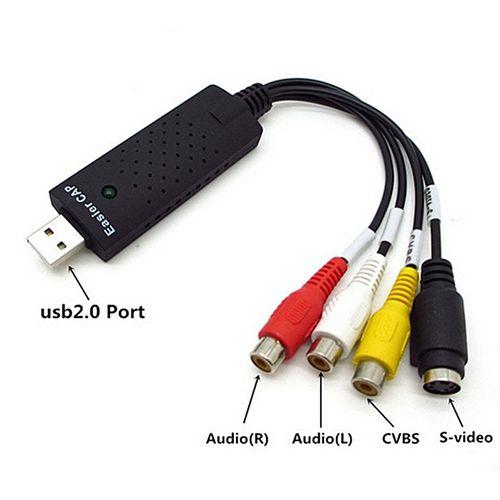 1PCS USB 2.0 Audio Video DVD VHS Record Capture Card Conver