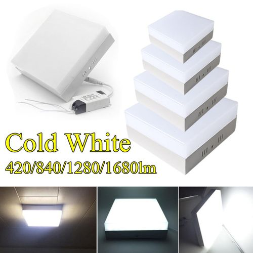 LED Ceiling Down Light Surface Mount Square White 6-24W Lamp Kitchen Living # 12W