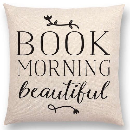 Black And White Style Reading Book Beautiful Cushions
