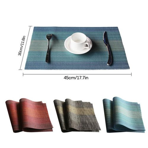 Table Mat Heat-resistant PVC Dining Table Placemats