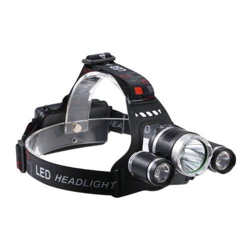 USB Rechargeable 3-heads LED Headlight 2400 Lumen Ultra