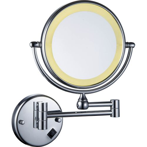 Wall Mounted LED Mirror-Sliver Warm LED
