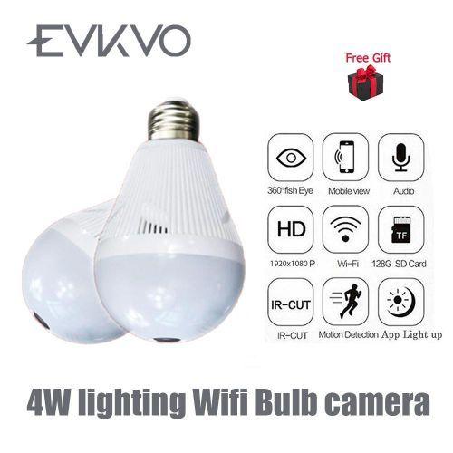 960P Bulb Light Wireless IP Camera 360 Degree Panoramic FishEye Security CCTV Camera Wifi P2P Motion Detection Camera