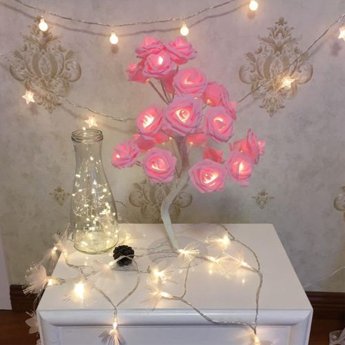 Christmas LED Flower Tree Branch String Lights Party Garden Home Lamp Xmas Decor