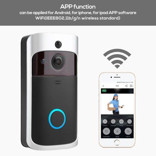 Wireless WiFi Security Doorbell Smart Video Audio Phone PIR Motion Detection Door Bell