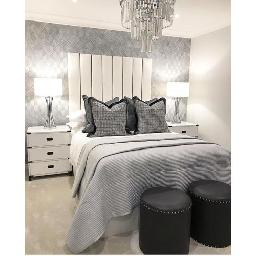 ClassicWhite 6by6 Bed+2drawers