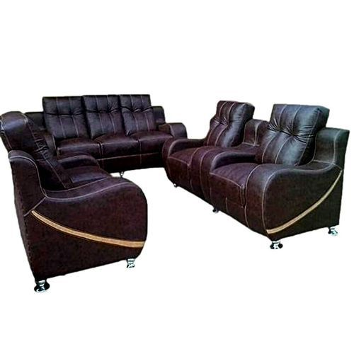 New Brown Leather 7 Seater Sofa (Delivery To Lagos Only)