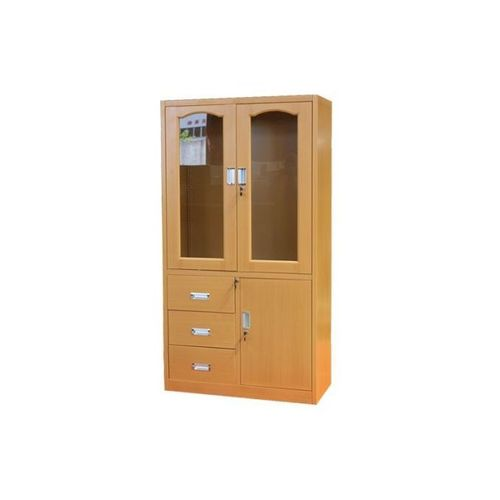 Metal Glass Filing Cabinet - Brown (Delivery In Lagos Only)