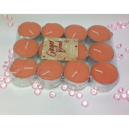 24Pcs Scented Tealight Candles-Ginger Bread