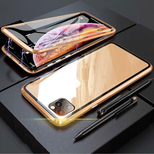 Magnetic Adsorption Double-side Tempered Glass For IPhone 11 Pro Max Case Metal Bumper Full Body Protective For IPhone 11 / 11 Pro Cover Casing