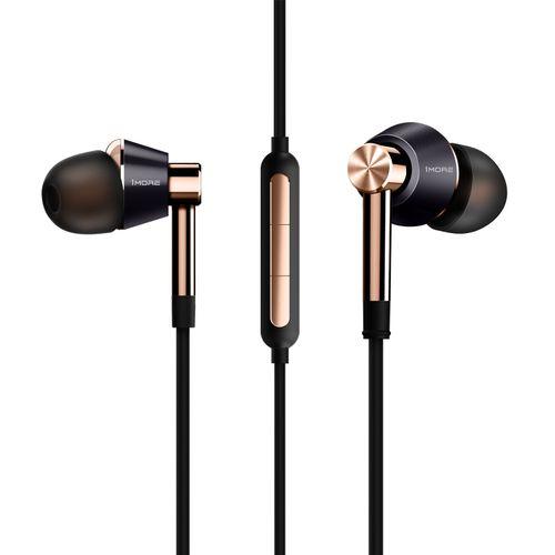 Triple Driver In-Ear Earphones Hi-Res Headphones- E1001 Gold