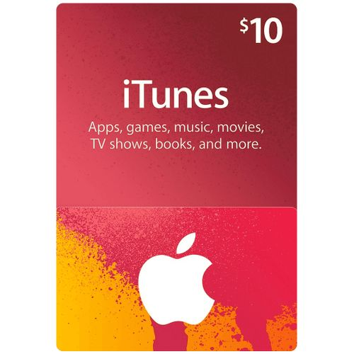 Apple ITunes 10 USD Apple Store Credit / Prepaid Card