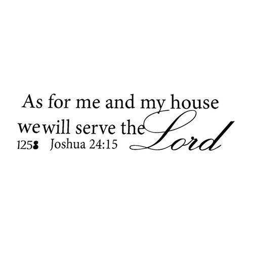 We Will Serve The Lord Quotes Christian Wall Stickers