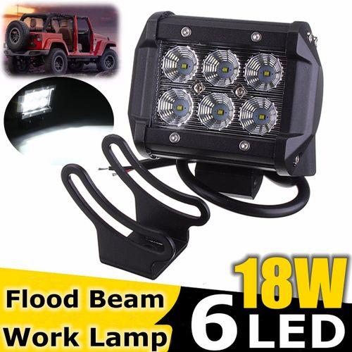 12V 6 LED Phare Feux De Travail Spot Floodlight Projecteur Off Road Lampe IP67