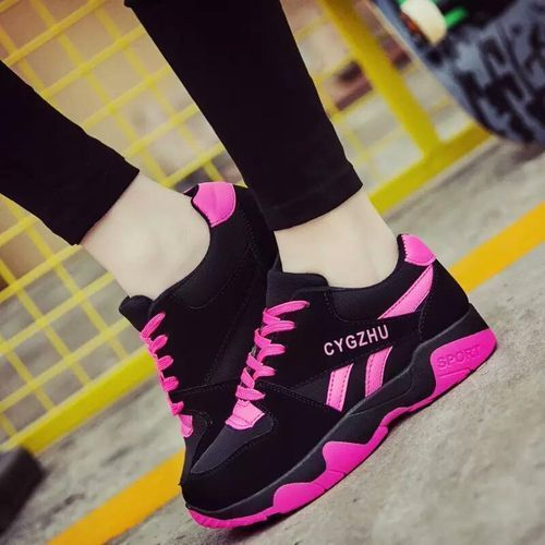Women Fashion Sneakers- Pink And Black
