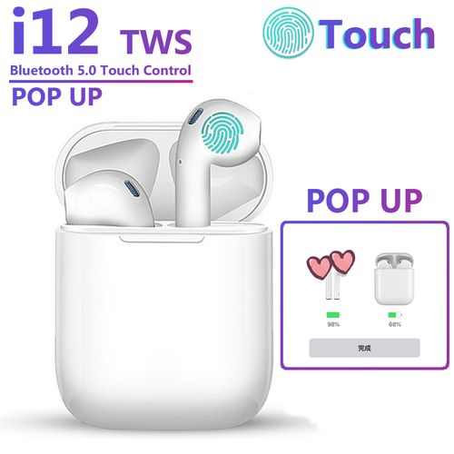 I12 TWS Wireless Headset 3D Stereo Super Bass Mini Earbuds