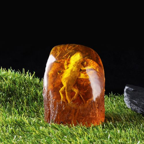 Amber King Butterfly Cicada Amber Fossil True Insect Specimens Decorative Crafts