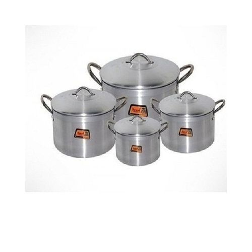Cooking Pot Set 4 Pieces - Silver (Tower Trim) 16, 18, 20 And 22cm