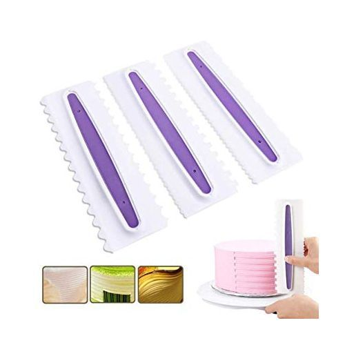 3pcs/set Cake Comb Cake Decorating Tools - White