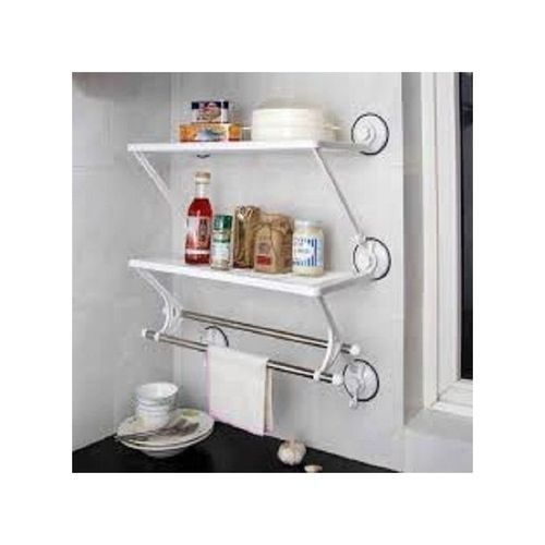 DOUBLE LAYER DOUBLE RODS SHELF.