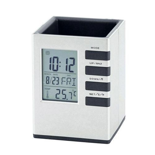 Super Office Pen Holder With Digital Clock/calender/Alarm