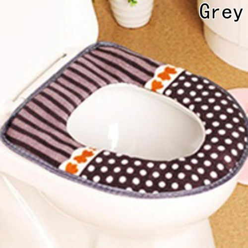 Benhongszy 1 Pc Thicken Plush Washable Bathroom Toilet Seat Cover Mat Lid Closestool Cloth Warmer Toilet Washable Cloth Seat Cover Pads