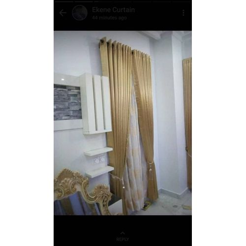 Curtain With Full Accessories - Gold