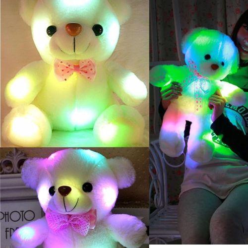Soft Cuddly Teddy Bear Glow Blowing In The Night