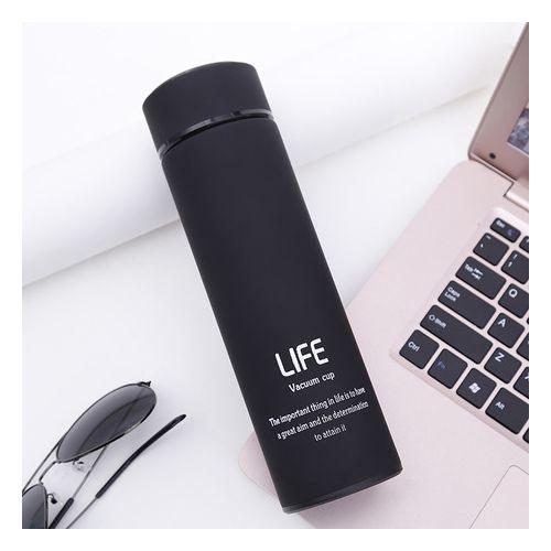 LIFE Vacuum Cup Stainless Steel Water Bottle - Black