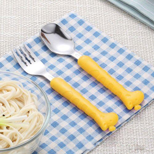 Baby Cutlery Sets,Knife Fork Flatware Baby Feeding Utensil
