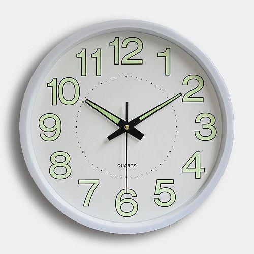 Modern 12 Inch Circular Night Glow Luminous Wall Clock