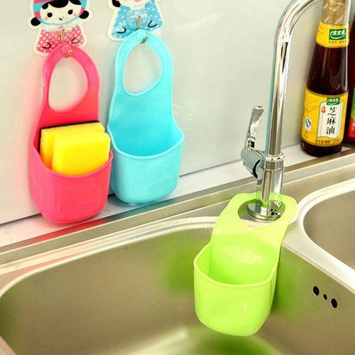 Honana HN-L1 Kitchen Bathroom Hang Basket Wall Pocket Storage Bag Filter Water Creative Rack Hanger