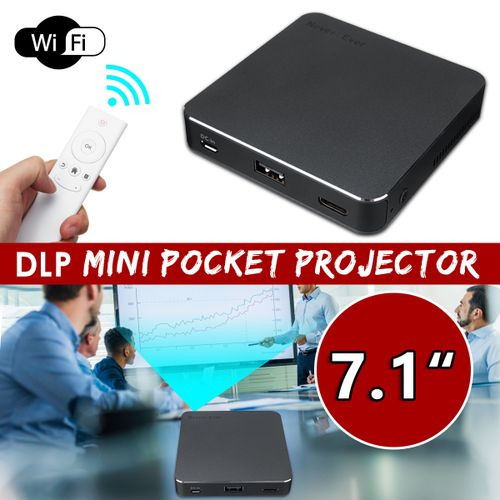 Mini Pocket DLP Projector WiFi 1080P 8GB Home Theater Bluetooth Android 7.1