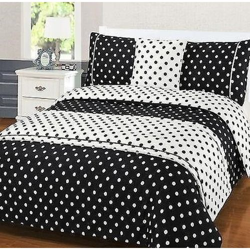 Bedding With Duvey Pls Four Pillow Case Black And White