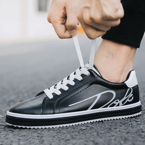 Mens Fashion Sneakers Soft Casual Shoes Black