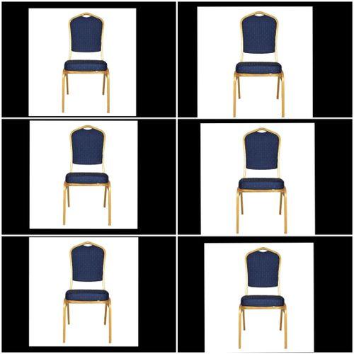 Banquet Chair Blue (set Of 6)