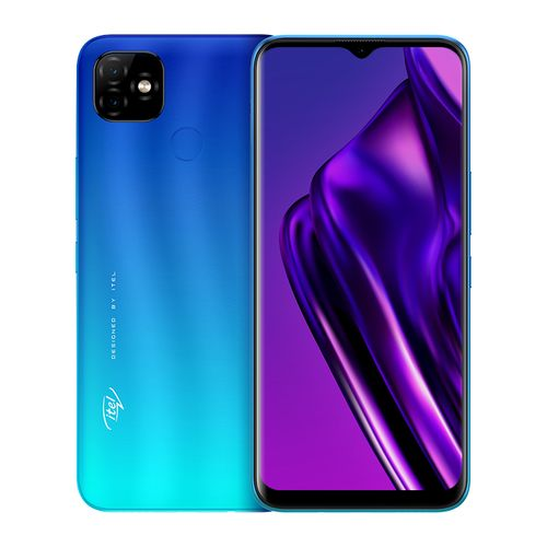 "P36 6.5"" HD+ Screen, 1GB RAM + 16GB ROM, Android 9 Pie, 5000mAh Battery, 8MP + 8MP Camera, Fingerprint + Face ID - Blue"