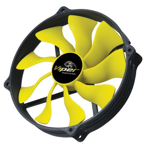 Akasa AK-FN073 14cm 4 Pin PWM Viper S-FLOW Cooling Fan Heat Sink Hydro Dynamic Bearing