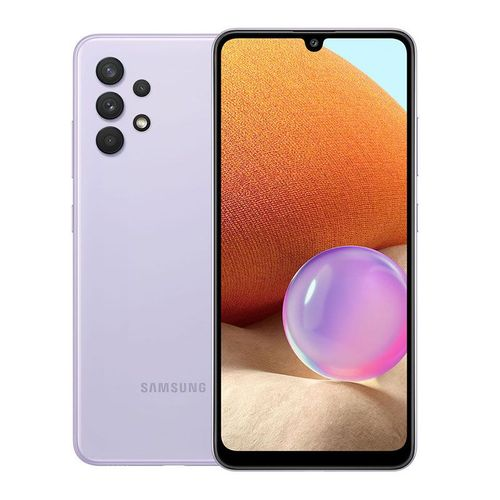 "Galaxy A32 - 6.4"", 6/128GB Memory, Camera - 64/8/5/5MP, 20MP Selfie, Dual SIM, 5,000Mah Battery, 4G LTE - Violet"