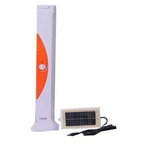 Rechargeable Flourescent Lamp - {small + Solar Panel