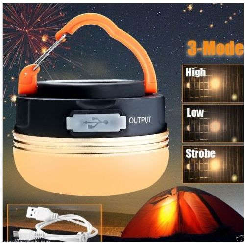 180LM/300LM Rechargeable LED Hiking Camping Tent Lantern Light USB Lamp Outdoor