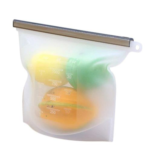 Reusable Silicone Food Storage Bag, For Fruits Vegetables Meat-1Pack