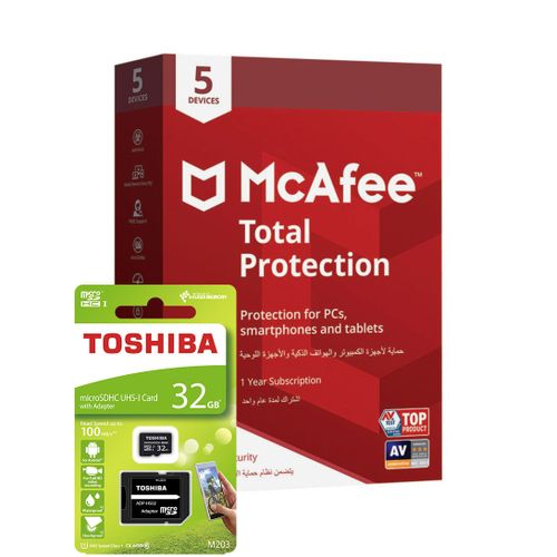 Total Protection 5 Devices &Toshiba High Speed MicroSD 32GB