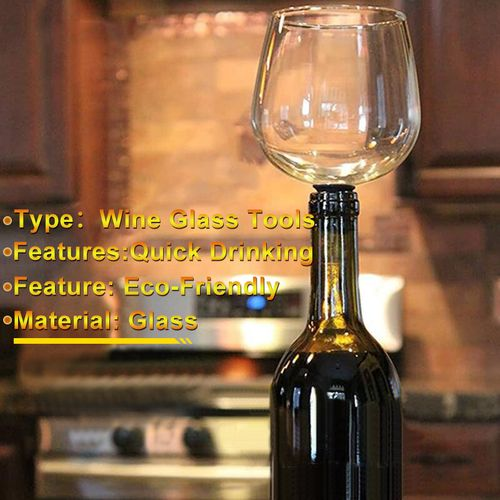 Creative Crystal Drinking Straight Red Wine Glass Of Wine Bar Tools Wine Stopper It Turns Bottle Of Wine Into Glasses