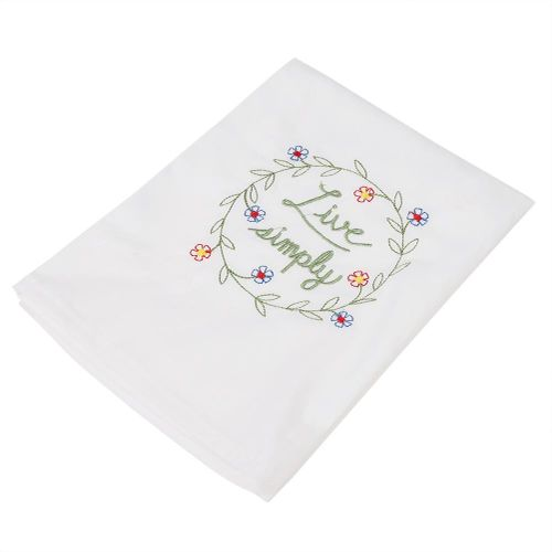 Embroidered Dinner Napkins High-grade Wine Glass Napkin Cotton Floral Napkins-Home Wedding Party Decor