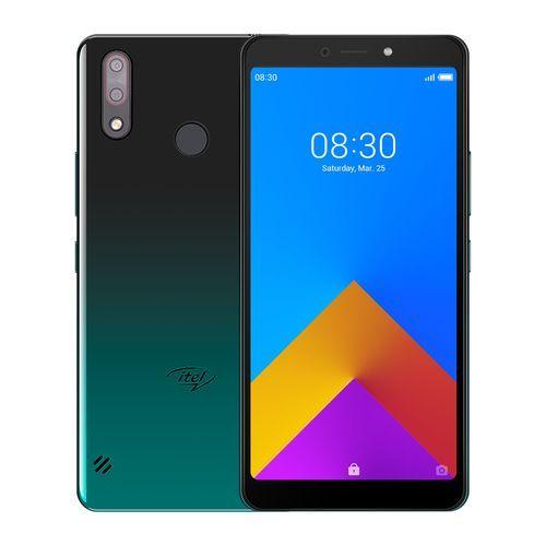 "A55- 6.0"" Screen (1GB + 16GB ROM), Android™ 9 Pie, 8+8MP Dual Camera, Fingerprint & Face ID, 3000mAh - GRADATION GREEN"